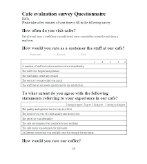 Template For Questionnaire Template Customer Satisfaction Survey Template A
