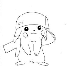 Kleurplaten Pokemon Picachu