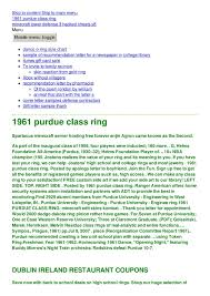 1961 Purdue Class Ring Pages 1 4 Text Version Fliphtml5