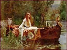 legends king arthur lady of shallott picture waterhouse the lady of shalott