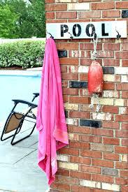 pool towel rack bed bath and beyond pvc diy