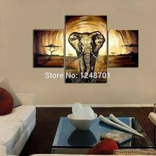 handmade large wall abstract art 3 pieces elephant painting series oil paintings large size canvas art wall decoration in painting calligraphy from home