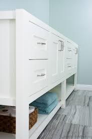 mission style open shelf bathroom vanity build plans a houseful small wall shelves mission style
