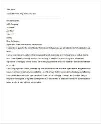 Dental Receptionist Cover Letter Sample Cover Letter For Receptionist 7 Examples In Word Pdf