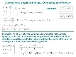gravitational potential energy conservation of energy