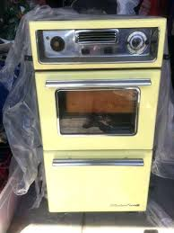 tappan wall ovens vintage wall oven yellow enamel chrome built in gas wall oven vintage wall