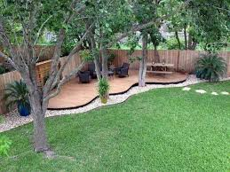 large backyard landscaping