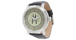 mens personalized monogram watch zazzle