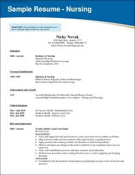 Nursing School Resume Template Free Samples Examples Nursing Resume
