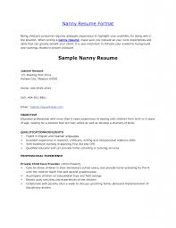 Download Nanny Resume Examples Haadyaooverbayresort Com