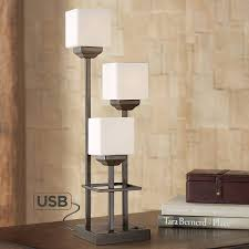 Console Table Lights Light Tree 3 Light Bronze Console Table Lamp With Usb