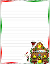 Christmas Stationery Template Free Printable Stationery Template