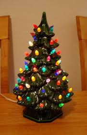 Impressive Ideas Ceramic Christmas Trees With Lights Drifting Snow Ceramic Tabletop Christmas Tree With Lights