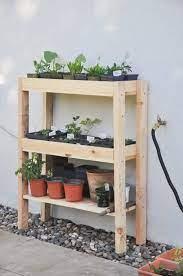diy outdoor plant shelf hydrangea