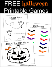 Free Halloween Printable Games | Roaming Rosie