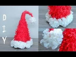How To Make Hat With Chart Paper How To Make A Santa Hat Ideas Christmas Diy Christmas
