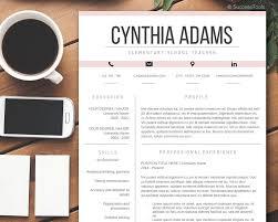 Modern Resume Formatg Teacher Resume Template Modern Resume Template Word Cv Etsy