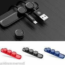 <b>Baseus Peas</b> Magnetic <b>Cable Clip</b> USB <b>Cable</b> Organizer <b>Clamp</b> ...