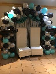 Baby shower themes  Mustache Theme Balloon Arch