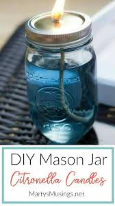 these easy and inexpensive diy citronella candles are easy to make look adorable in mason