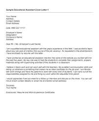 Teacher Assistant Cover Letter Accurate Impression Sample Personal