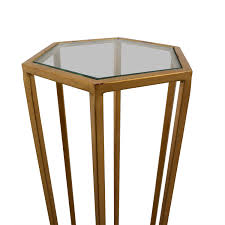 worlds away alan gold metal and glass side table worlds away