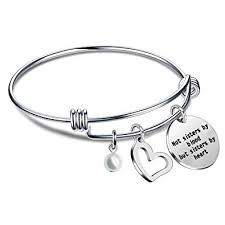 Amazon Lauhonmin Best Friends Sister Bangle Bracelets Not Interesting Uff I Have No Sister I Need A Sister