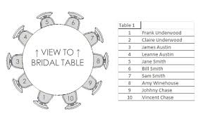 wedding guest seating chart template round table wedding seating chart template round table wedding