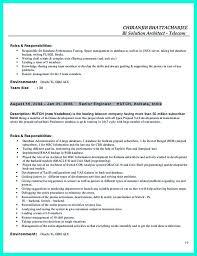 data architect resume resume templates