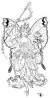 Gothic Fairy Coloring Pages For Adults With To Download And Print
