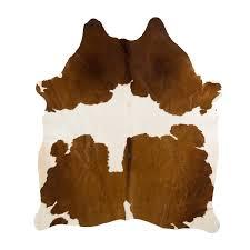 design republique brown cow hide rug