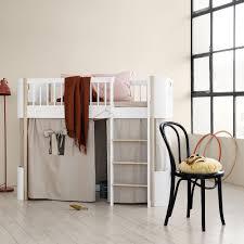 mini furniture. Oliver Furniture Mini+ Low Loft Bed White Oak Mini T