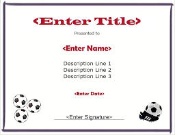 13 Free Sample Soccer Certificate Templates Printable Samples