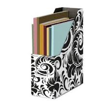 damask office accessories. black and white damask magazine file box office accessories s