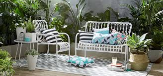 patio furniture sets kmart kmart jamestown patio furniture white sofa bench and patterned cushion high definition