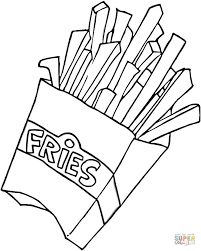 french fries clipart black and white. Wonderful Clipart French Fries Clipart Black And White U2013 Pencil In Color Within  To A