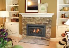 ... Contemporary Home Interior Design Ideas Using Electric Gas Fireplace  Insert Decoration : Fancy Brown Mosaic Tile ...