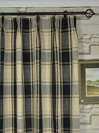 Plaid Curtains For Living Room Hudson Yarn Dyed Big Plaid Blackout Double Pinch Pleat Curtains