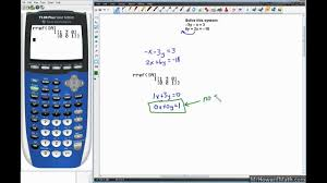 linear systems solving with graphing calculator matrix method