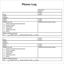 Images Of Phone Call Log Sheet Template Com Film Excel