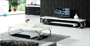 stainless steel and marble furniture set coffee table cabinet modern design style in living room sets
