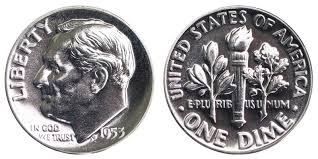 Roosevelt Dime Value Chart 1953 Roosevelt Silver Dime Coin Value Prices Photos Info
