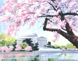 cherry blossom acrylic painting japanese cherry blossom painting acrylic cherry blossom tree acrylic painting