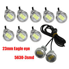 Diy Running Lights Us 13 69 45 Off Ysy 10pcs Eagle Eye Led Car Light Daytime Running Lights Drl Motorcycle Diy Ultra Thin Source Warning Lamps 12v 23mm In Car Light