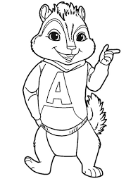 Small Picture and the chipmunks coloring page