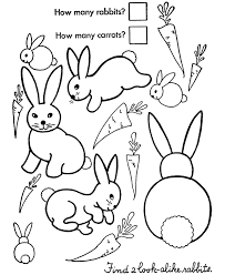 32d84cad415b5b1a88513e99212ab890 easter bunny coloring pages count the easter bunnies on easter worksheets