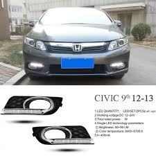 turning signal style relay 12v car led drl daytime running lights accessories with fog lamp hole