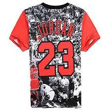jordan 23. bonita unisex harajuku 3d t-shirt jordan 23 casual top tee