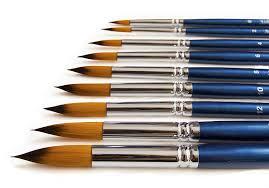 the art chest artist round paint brush set