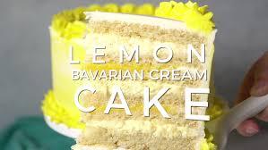 Lemon Cake With Lemon Bavarian Cream Easy Lemon Cake Recipe